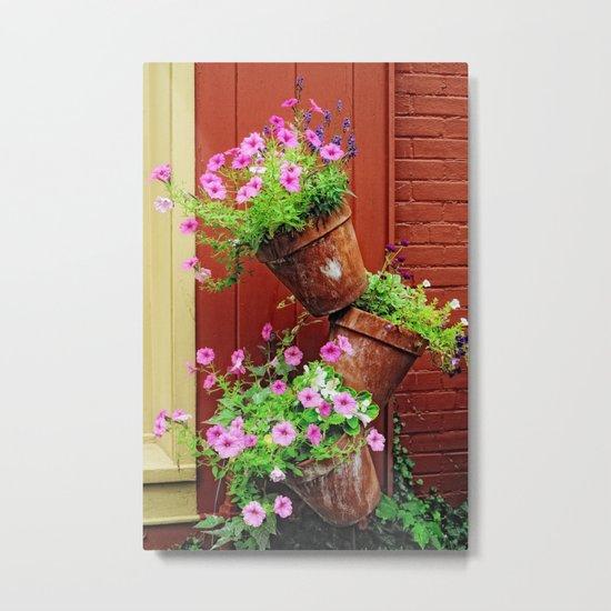 Potted Petunias Metal Print