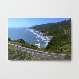 Coastal Road Metal Print