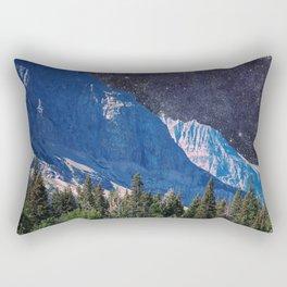 Night Sky Mountain Rectangular Pillow