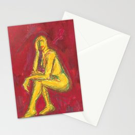 Nude on Red Stationery Cards