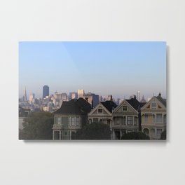 Painted Ladies, San Francisco Metal Print