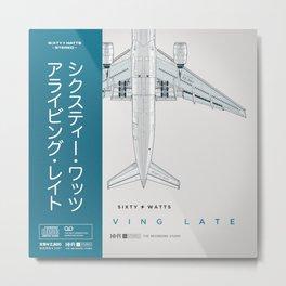 Arriving Late - Variant Metal Print