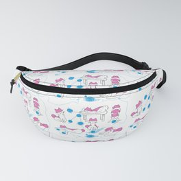 Mina pompon and the wool elbow Fanny Pack