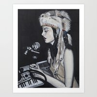 dj Art Prints featuring DJ by Laura Preston