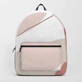 Modern minimal abstract geometric pastel colors Backpack
