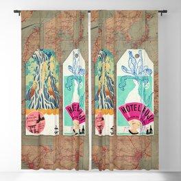 Label Fables, Japan I :: Fine Art Collage Blackout Curtain