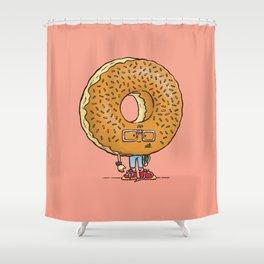 Nerd Donut Shower Curtain