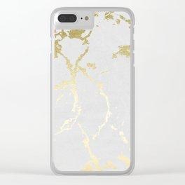 Kintsugi Ceramic Gold on Lunar Gray Clear iPhone Case