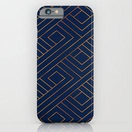 abtract metal lignes iPhone Case