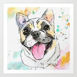 Tri Color French Bulldog Art Art Print