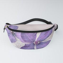 Zen Soft Pastel Purple Clematis Blossom Fanny Pack