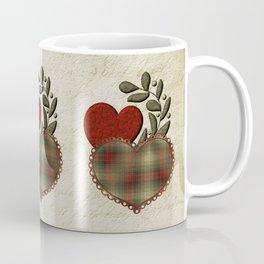 Red & Green Plaid Heart Love Letter Coffee Mug