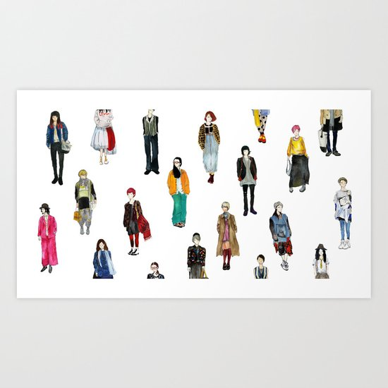 Japanese Street Snap Art Print