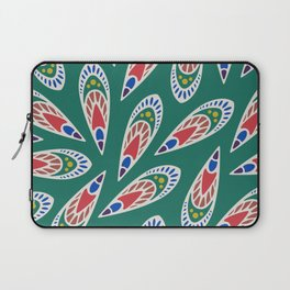 Green African Pattern Laptop Sleeve