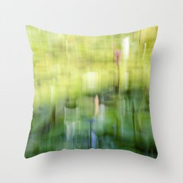 Tropical Impressionism - Lily Pond Throw Pillow