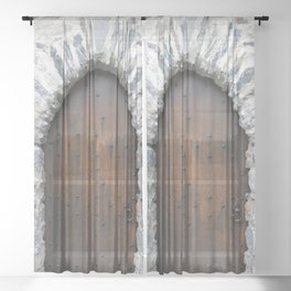 Castle Door Sheer Curtain