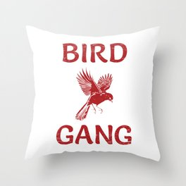 Bird Gang Football Shirt For Football Offensive Lineman T-Shirt Design Player Team Throw Block Throw Pillow