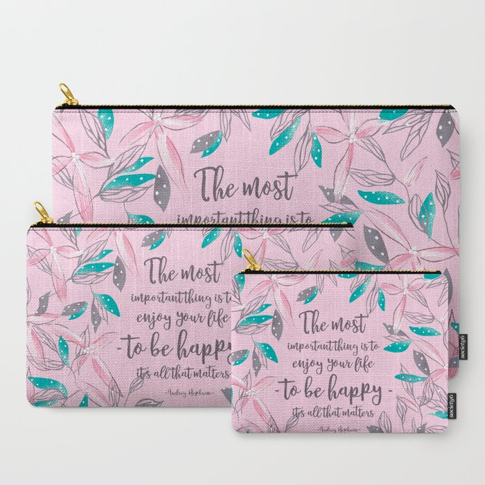 Flower_of_a_brush_touch_design_illustration__Pink_CarryAll_Pouch_by_UnFragmentBox__Set_of_3