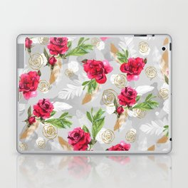 Pattern flowers & feathers Laptop & iPad Skin