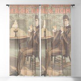 Sherlock Holmes vintage poster art Sheer Curtain
