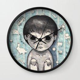 Little Ghost Boy Toshio Wall Clock
