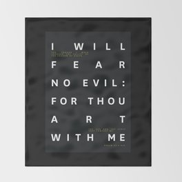 Psalm 23:4 Typography Quote Throw Blanket