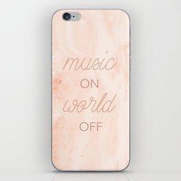 Music On, World Off iPhone Skin