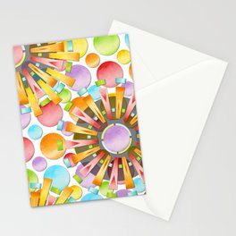 Birthday Party Polka Dots Stationery Cards