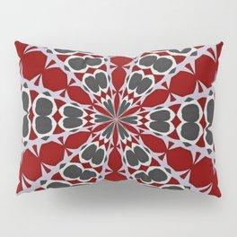 Red Black White Pattern Pillow Sham