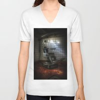 dentist V-neck T-shirts featuring Dentist horror by Cozmic Photos