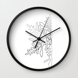 """Christmas Collection"" - Minimal One Line Snowflake Print Wall Clock"