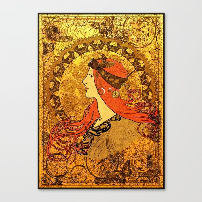 Steampunk Nouveau Canvas Print