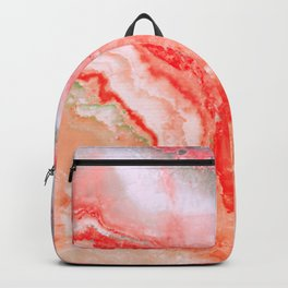 Luxury LIVING CORAL Agate Marble Geode Gem Backpack