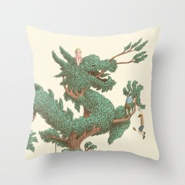 The Night Gardener - The Dragon Tree Throw Pillow