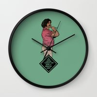 lawyer Wall Clocks featuring Lawyer by Mikhail Kalinin