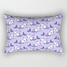 Cute purple merpandas Rectangular Pillow