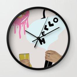 Pop Art Fashion Ad Harajuku Style Wall Clock