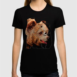 kodiak brown bear vector art T-shirt