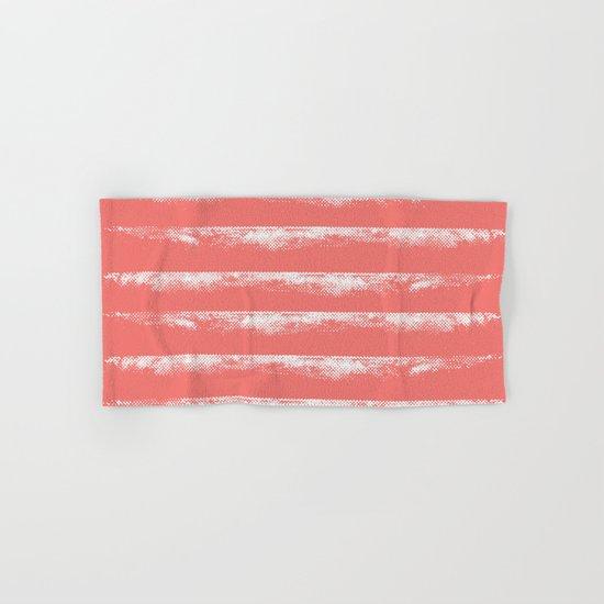 Irregular Stripes Coral Hand & Bath Towel