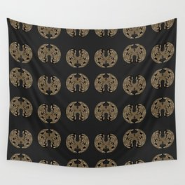 Odd order - Pattern of symmetric squeezed shapes Wall Tapestry