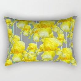 OODLES OF YELLOW IRIS GREY GARDEN ART Rectangular Pillow