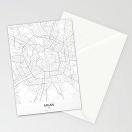 Milan, Italy Minimalist Map Stationery Cards