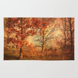 Textured Autumn Trees Rug