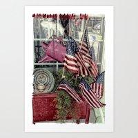 patriotic Art Prints featuring Patriotic by Colleen G. Drew