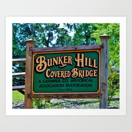 Sign At Connor Park Art Print