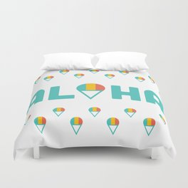 Aloha Shave Ice Duvet Cover