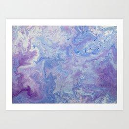 Purple Galaxy (Pastel) Art Print