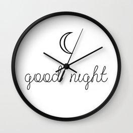 Good Night Wall Clock
