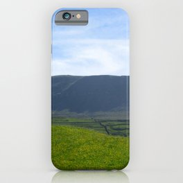 Sunny day, Pen y Ghent, Horton in Ribblesdale uk  iPhone Case
