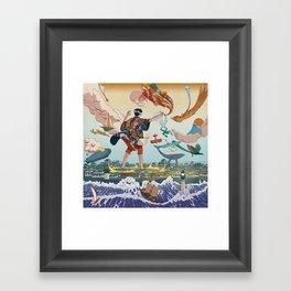 Ukiyo-e tale: The legend Framed Art Print